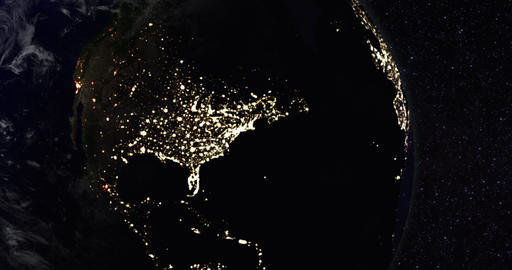 1080p Power Outage / City Blackout / Earth Globe / Earth From Space Footage