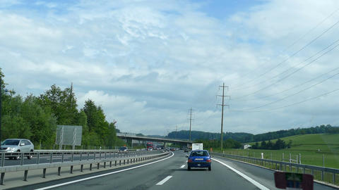 Driving on the highway of Luzern Footage