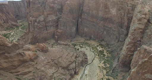 Aerial Drone Scene Of Piedra Parada, A Great Canyon On Patagonia Landscape, Arge stock footage