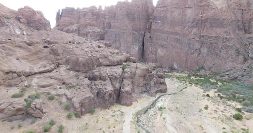 Aerial drone scene of Piedra Parada, a great canyon on Patagonia landscape, Arge Footage