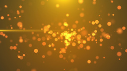 4K Golden Blinking Particles motion backgrounds Animation