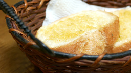 Bread in basket for lunch Footage