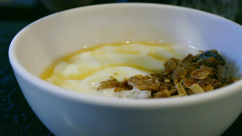 Muesli and yogurt Footage