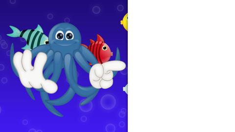 Cartoon Squid Octopus Animation Pack 1