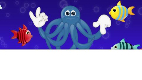 Cartoon Squid Octopus Animation Pack 2
