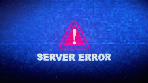 Server Error Text Digital Noise Twitch Glitch Distortion Effect Error Animation Live Action