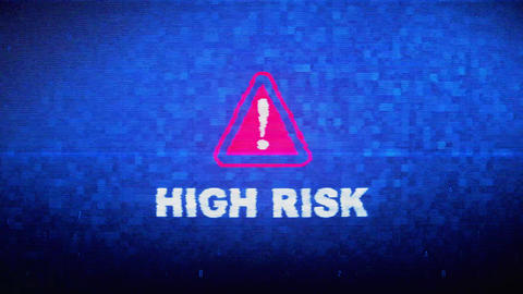 High Risk Text Digital Noise Twitch Glitch Distortion Effect Error Animation Live Action