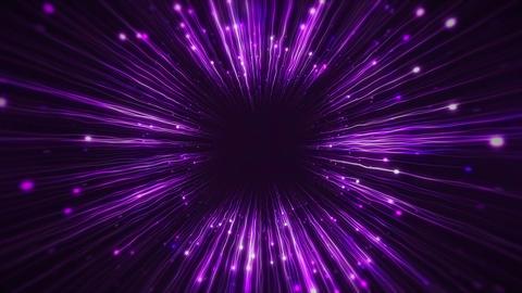 Flight inside a Purple Stars Field Tunnel Archivo