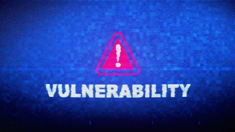 Vulnerability Text Digital Noise Twitch Glitch Distortion Effect Error Animation Live Action