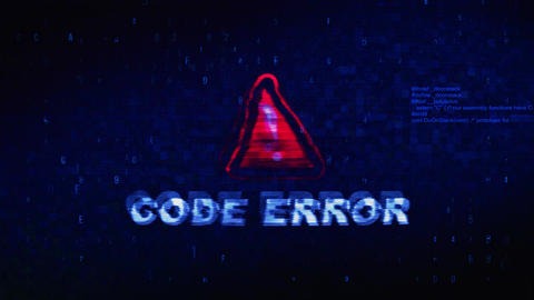 Code Error Text Digital Noise Twitch Glitch Distortion Effect Error Animation Live Action