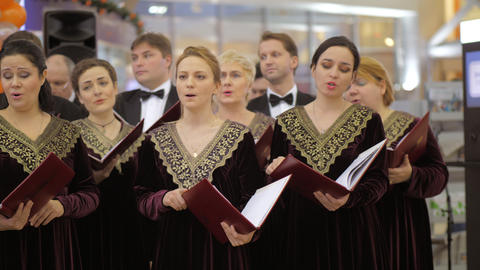 Concert of choir with men and women singers, Russia Archivo