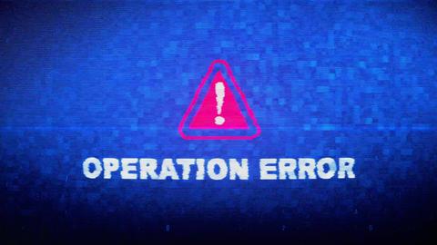 Operation Error Text Digital Noise Twitch Glitch Distortion Effect Error Loop Live Action