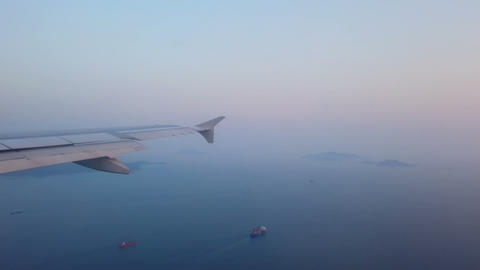 Ocean view from airplane window Footage