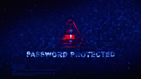 Password Protected Text Digital Noise Twitch Glitch Distortion Effect Error Loop Footage