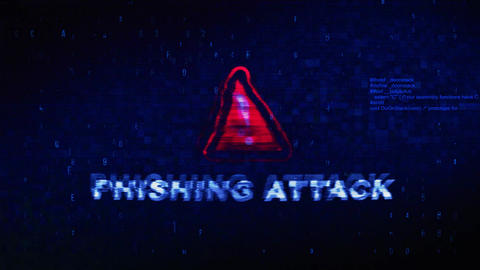 Phishing Attack Text Digital Noise Twitch Glitch Distortion Effect Error Live Action
