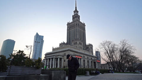 The Palace of Culture and Science in Warsaw Live Action
