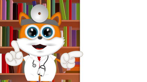 Marvin Cat Pet Veterinarian Cartoon Animal funny Animation