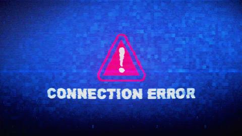 Connection Error Text Digital Noise Twitch Glitch Distortion Effect Error Loop Live Action