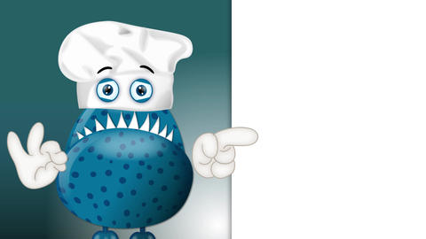 Funny Monster Cook Cartoon 1