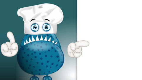 Funny Monster Cook Cartoon 2
