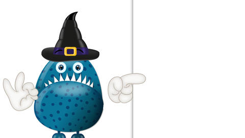 Funny Cartoon Halloween Monster