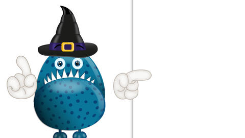 Funny Cartoon Halloween Monster 1