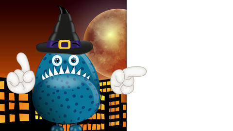 Funny Cartoon Halloween Monster 2