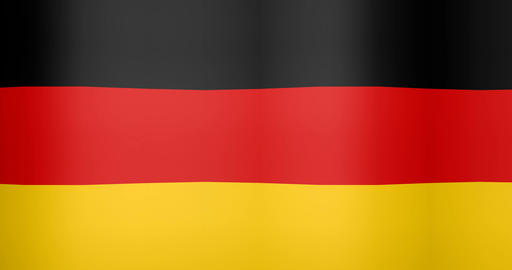 Waving Flag of Germany Looping Background Live Action