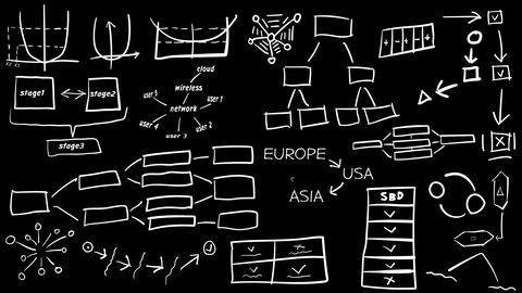 Hand-drawn charts and graphics Animation