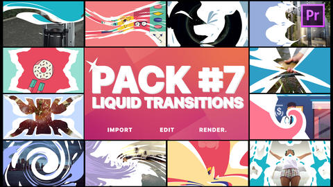 Liquid Transitions Pack 07 Motion Graphics Template