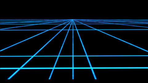 Neon cyberpunk Perspective grid with transparency 4k loop Archivo