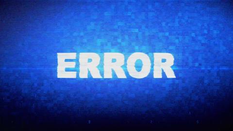 Error Text Digital Noise Twitch Glitch Distortion Effect Error Animation Live Action
