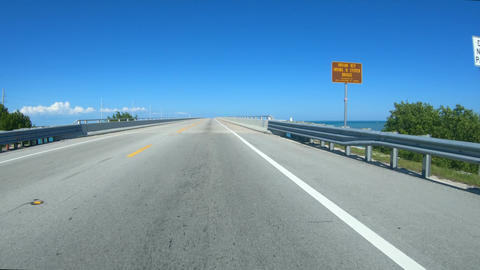 Driving down the road to Key West - Florida Keys Road - first person view Footage