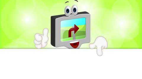 Funny Cartoon Navigation Device Animation