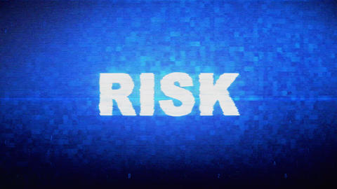 Risk Text Digital Noise Twitch Glitch Distortion Effect Error Animation Live Action