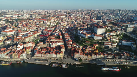 Dom Luis Bridge and historic district of Porto Footage