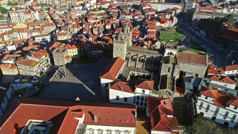 Se Cathedral in Porto at morning, Portugal ビデオ