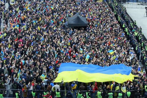Ukrainian Presidential Debate in Kyiv フォト