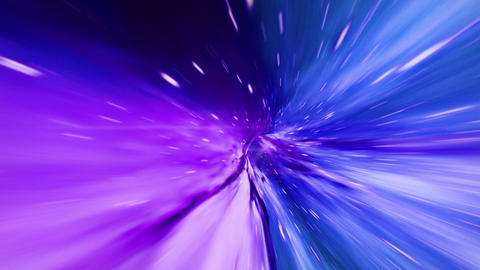 Interstellar, time travel and hyper jump in space. Flying through wormhole tunnel or abstract energy CG動画素材