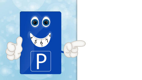 Funny Cartoon Parking Disk Animation Pack