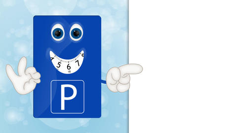 Funny Cartoon Parking Disk Animation Pack 0