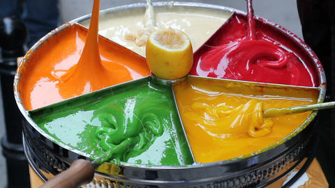 Old traditional Turkish street dessert: Sultan sweet paste Footage