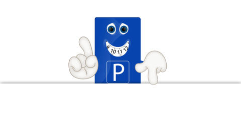 Funny Cartoon Parking Disk Animation Pack 2