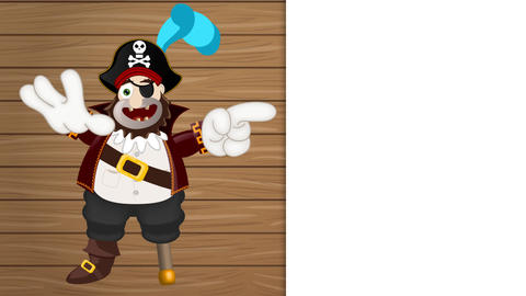 Friendly Pirate Funny Cartoon Animation Pack 1
