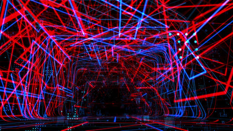 Laser Network Tunnel Light 05 GIF
