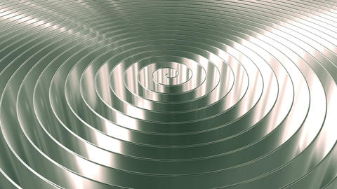 Rotating shiny coil. Loopable motion background Archivo