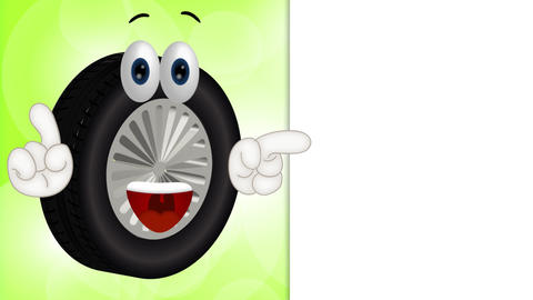 Funny Tire Cartoon Animation Pack 0