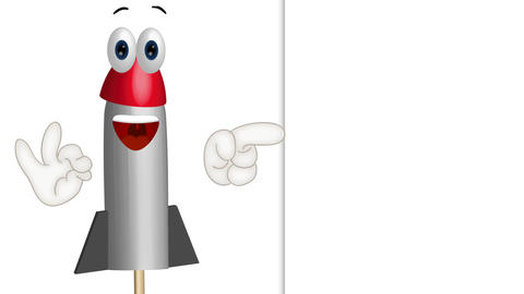 Funny Cartoon Rocket Animation Pack 0