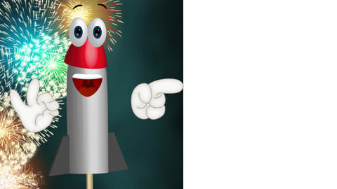 Funny Cartoon Rocket Animation Pack 2
