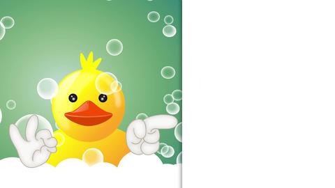 [alt video] Funny squeaky duck rubber duck cartoon illustration